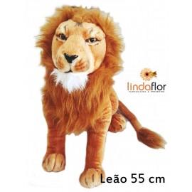 LEÃO DE PELUCIA 55 CM