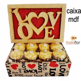 CAIXA LOVE COM 8 FERRERO ROCHER