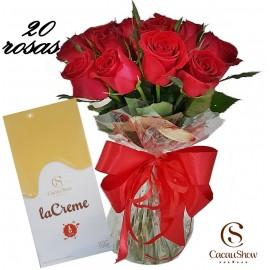 20 ROSAS E BARRA DE CACAU SHOW